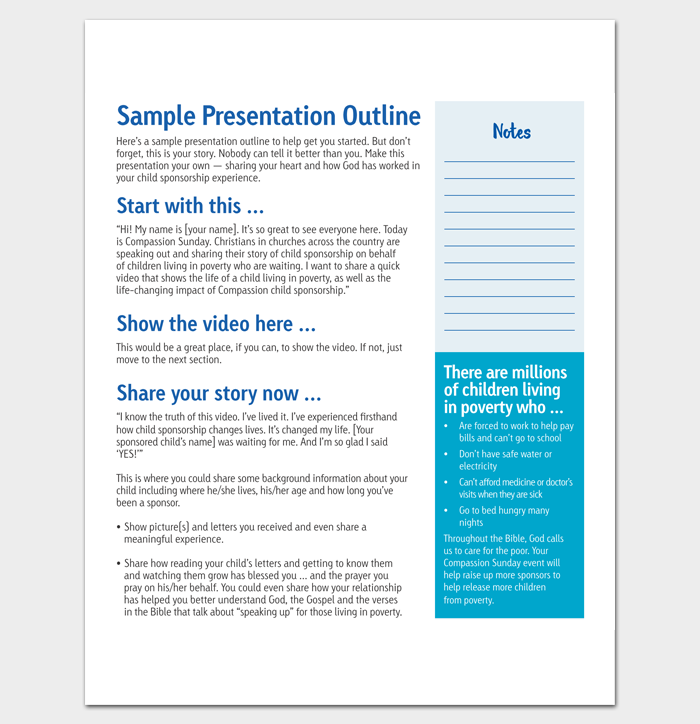 Sample Presentation Outline 1