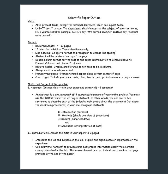 Scientific research paper sample