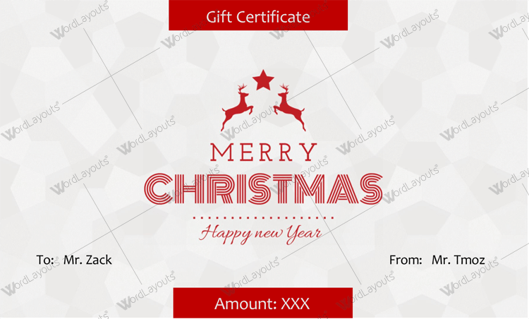 Christmas Certificate Star (in Word and PDF)