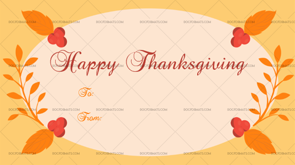 1 Thanksgiving Gift Tag Template Cherrys Printable and Editable