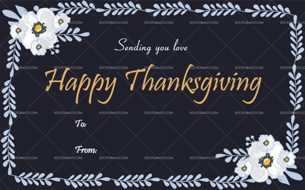11 Thanksgiving Gift Tag Template Blue Fillable Template