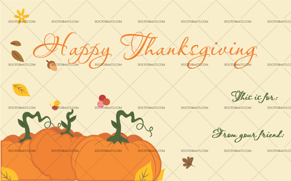 13 Thanksgiving Gift Tag Template Pumpkin Customize in Word
