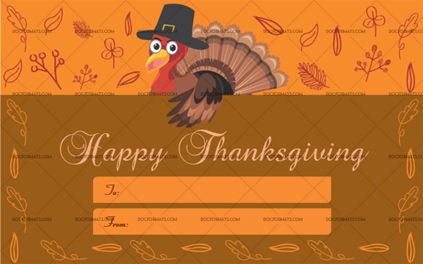 16 Thanksgiving Gift Tag Template Orange Fillable Certificate