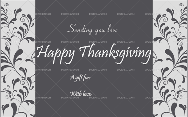 17 Thanksgiving Gift Tag Template Silver Printable and Editable