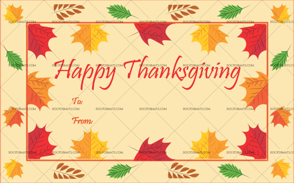 18 Thanksgiving Gift Tag Template Peach Printable in Word