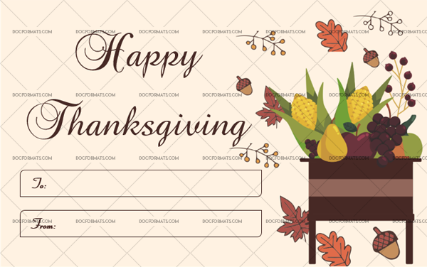 19 Thanksgiving Gift Tag Template Vegetables Fillable Template