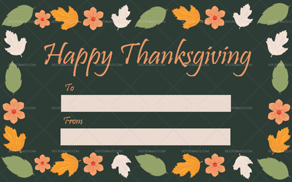 2 Thanksgiving Gift Tag Template Autumn Printable in Word
