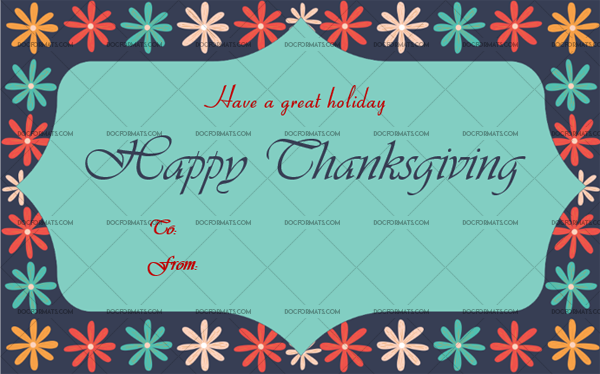 20 Thanksgiving Gift Tag Template Flowers Customize in Word