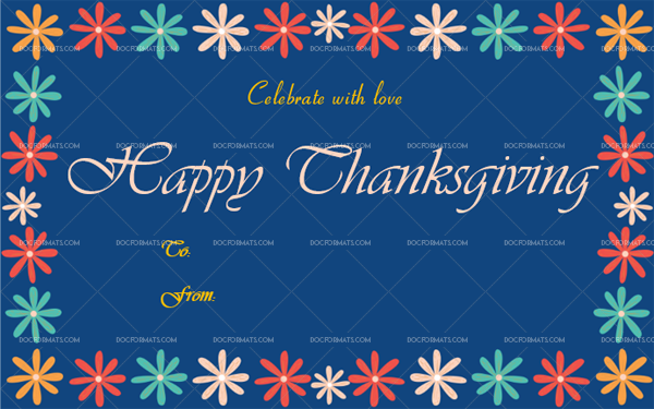 21 Thanksgiving Gift Tag Template Navy Blue Blank Design