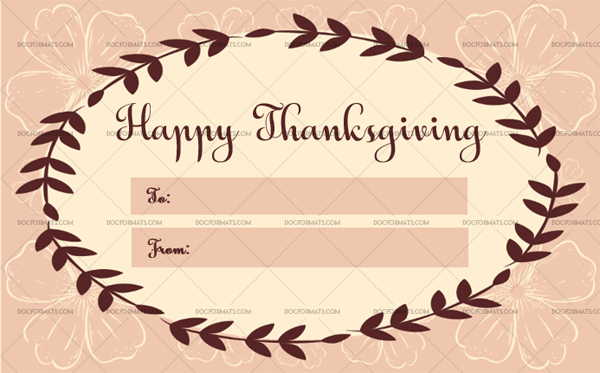 3 Thanksgiving Gift Tag Template Floral Fillable Template