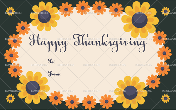 5 Thanksgiving Gift Tag Template Sunflower Customize in Word
