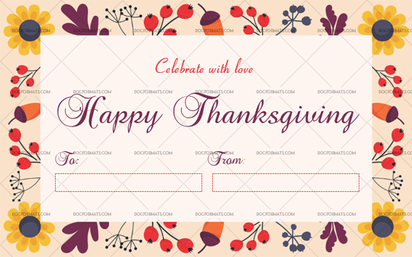 7 Thanksgiving Gift Tag Template Multi Blank Template