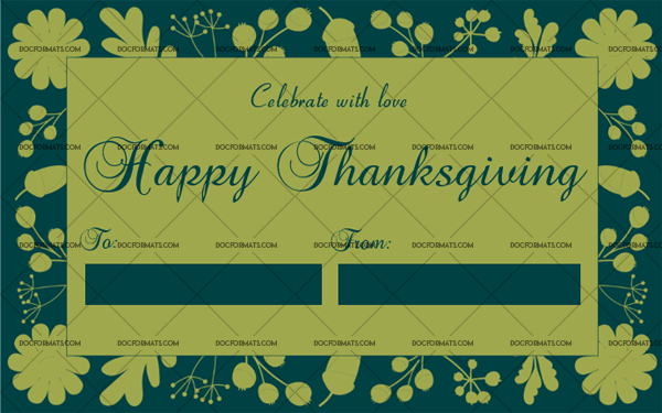 8 Thanksgiving Gift Tag Template Parrot Fillable Certificate