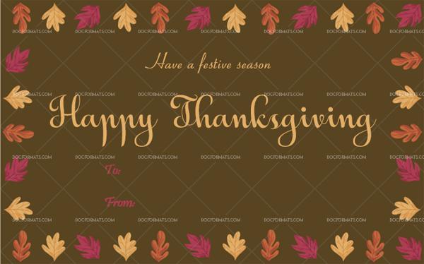 9 Thanksgiving Gift Tag Template Brown Printable and Editable