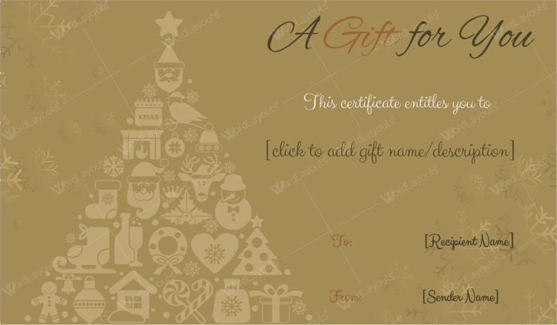 Christmas Gift Certificate Gift tree gift certificate maker