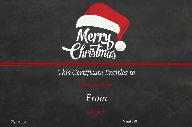 Christmas Gift Certificate black gift certificate maker