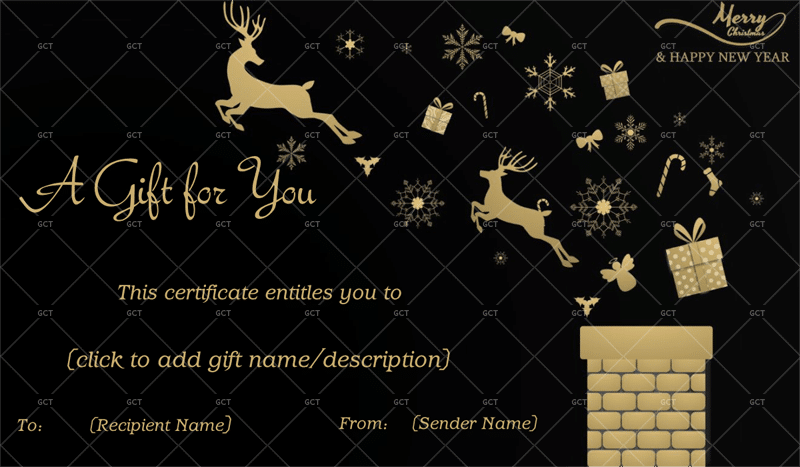 Merry Christmas Gift Certificate in WORD