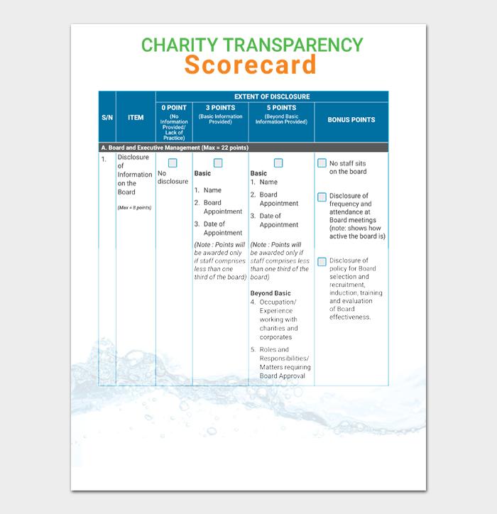 Charities Self Assessment Template
