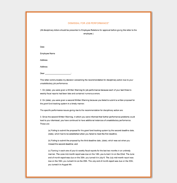 Employee Letter of Termination Free Word Download1