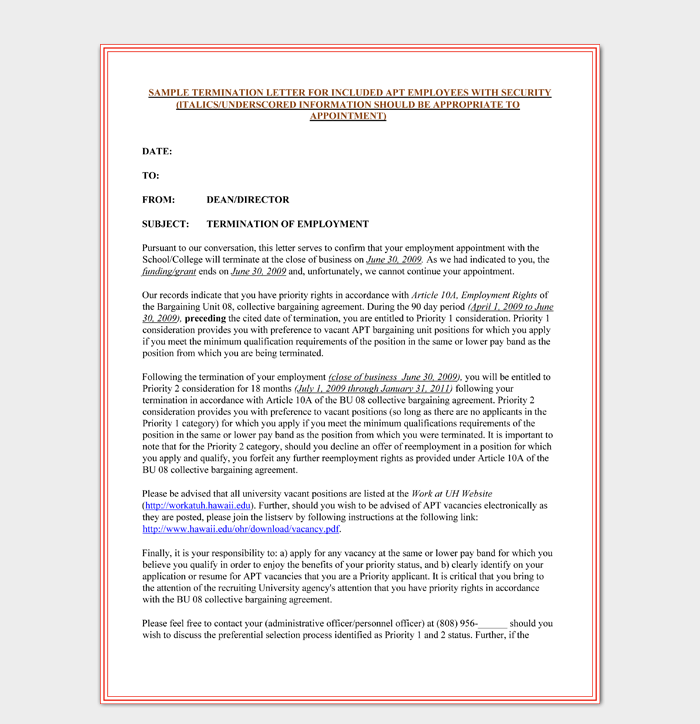 Letter Of Employment Termination from images.docformats.com