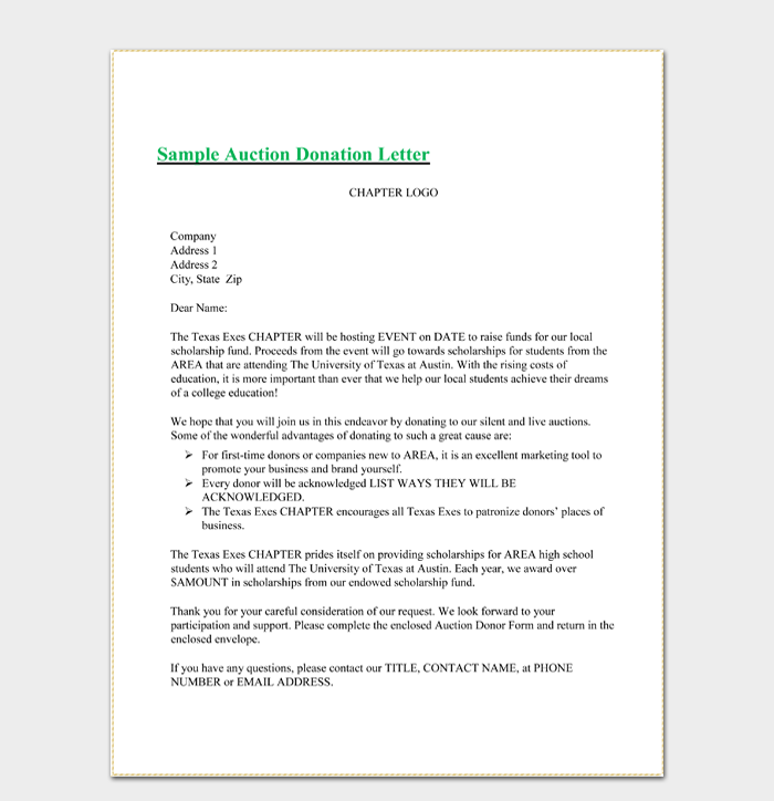 Write The Perfect Donation Request Letter  With Sample