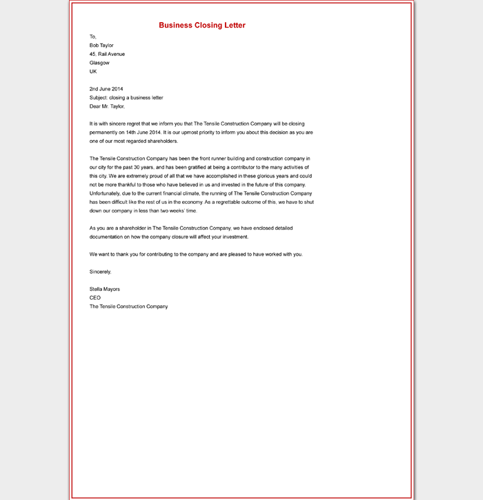 Closing For A Business Letter from images.docformats.com