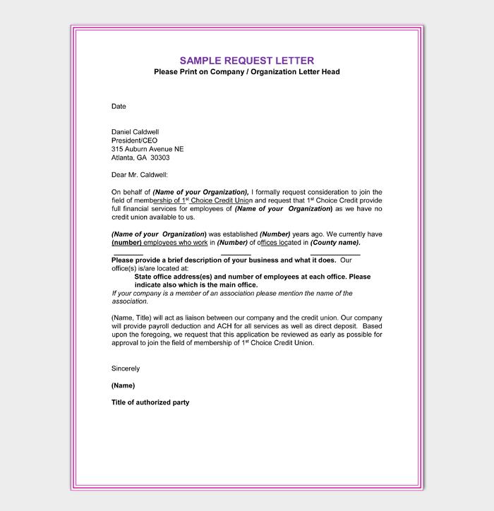 Membership Application Cover Letter