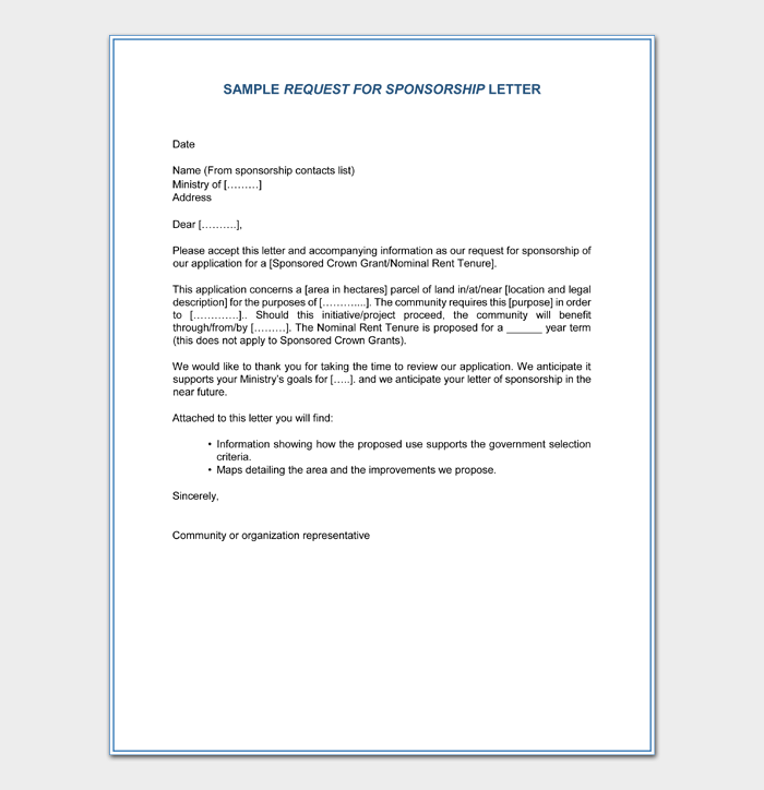 Request for Sponsorship Letter in PDF