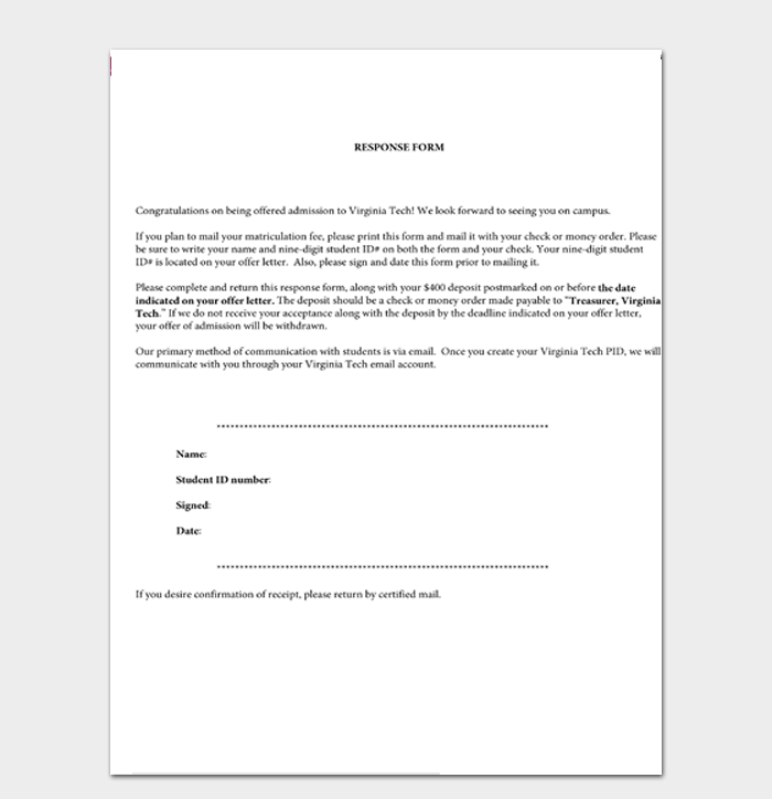 Response to Congratulation Letter Template