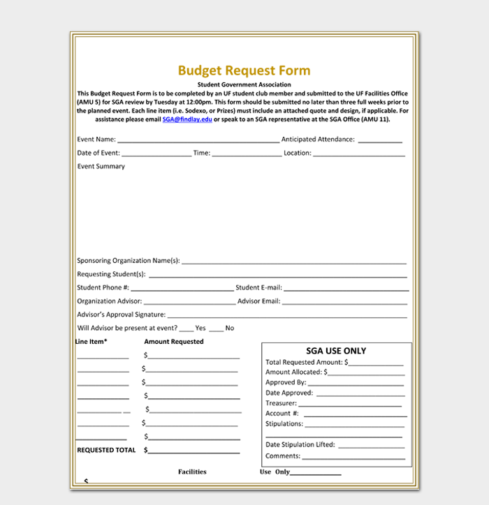 Sample Budget Request Form1