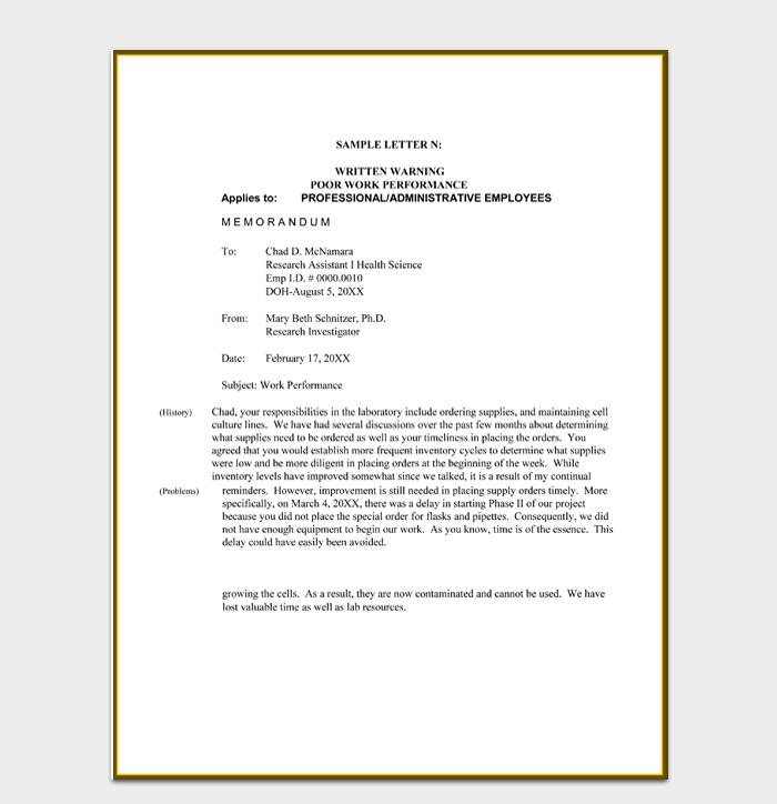 Work Order Letter