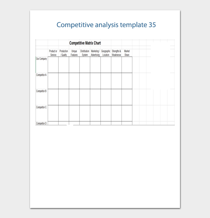competitive analysis template 35