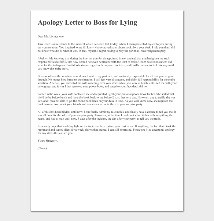 Apology letter ever best 2021 Most