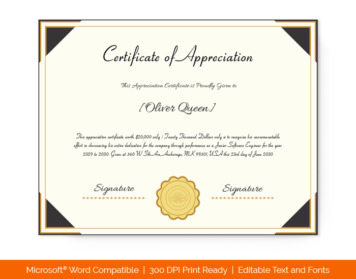 Letter Of Appreciation To Employee from images.docformats.com