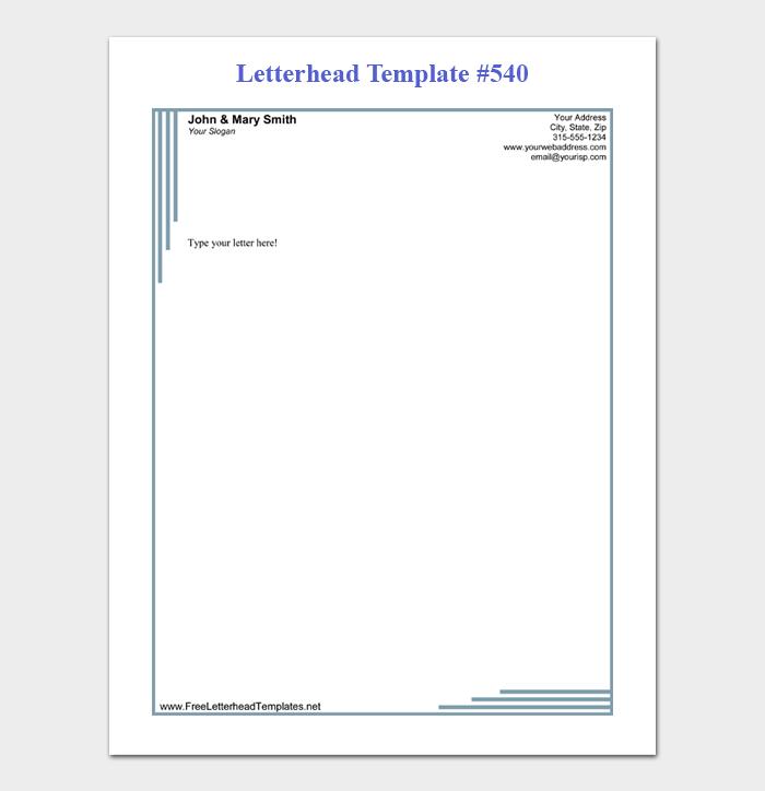 34 Free Letterhead Templates Editable Printable In Word Purshology