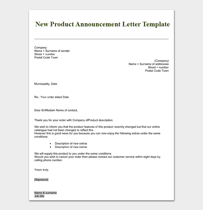 New Job Announcement Letter from images.docformats.com