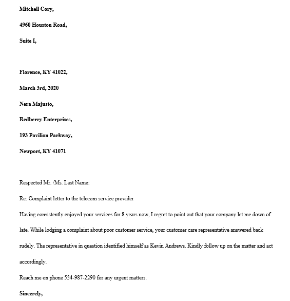 Customer Service Letter Templates from images.docformats.com
