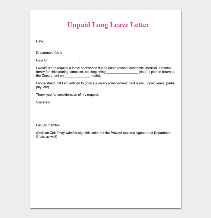 Vacation Leave Letter Sample from images.docformats.com
