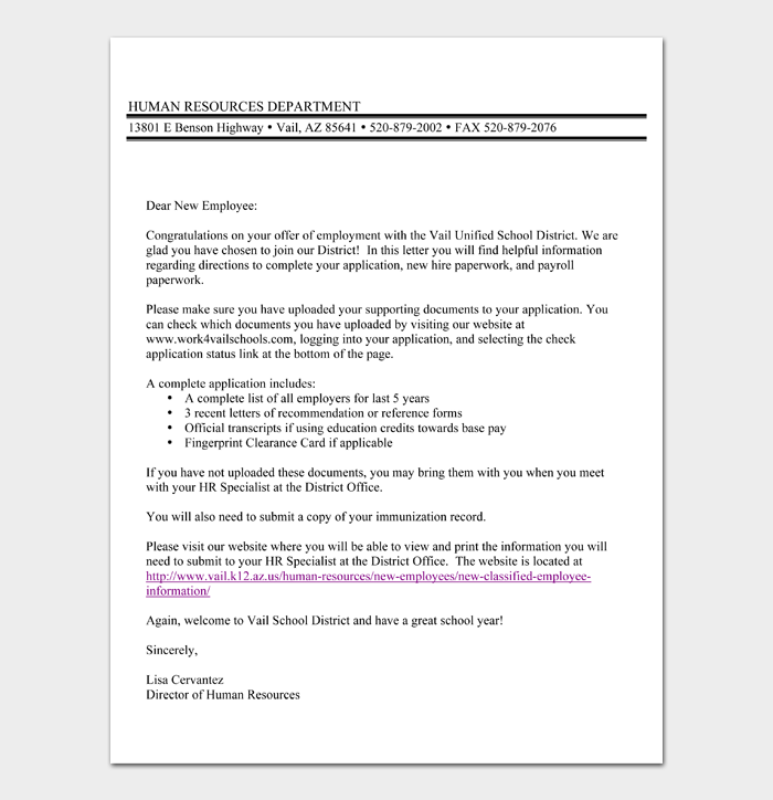 Welcome Aboard Letter To New Employee from images.docformats.com