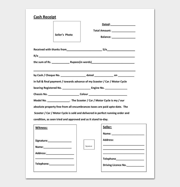 19 Cash Receipt Examples Templates In Word Excel And Pdf