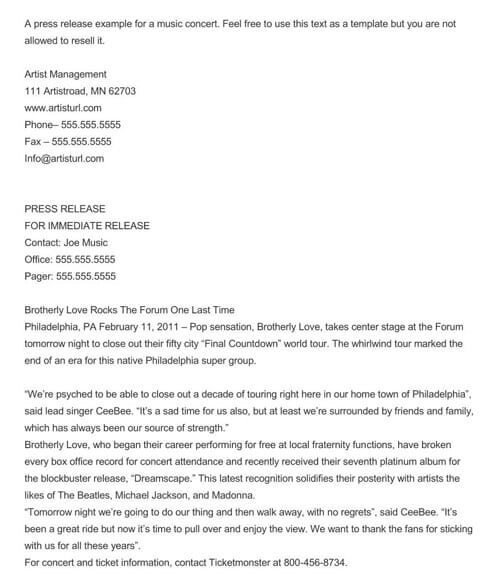 Press Release Template Free from images.docformats.com