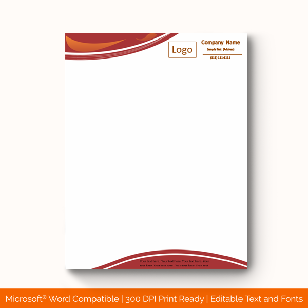 19 Printable Company Letterhead Templates Word Doc