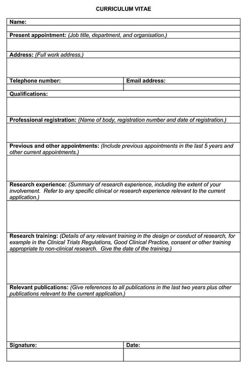 17  free curriculum vitae  cv  templates and examples