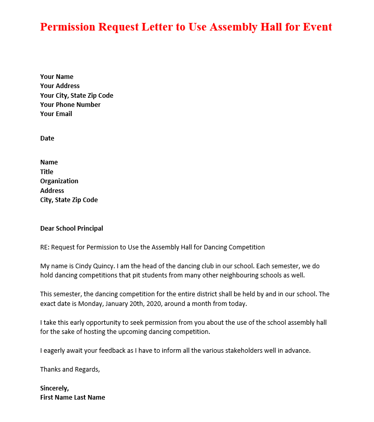 Sample Letter To Principal from images.docformats.com