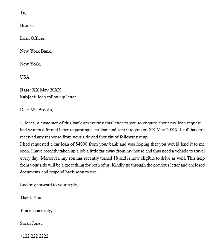 How To Write A Follow Up Letter With