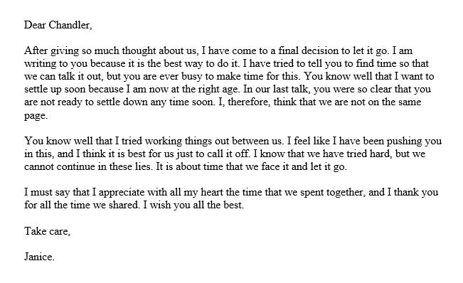 For sad him up letters break Saddest Goodbye