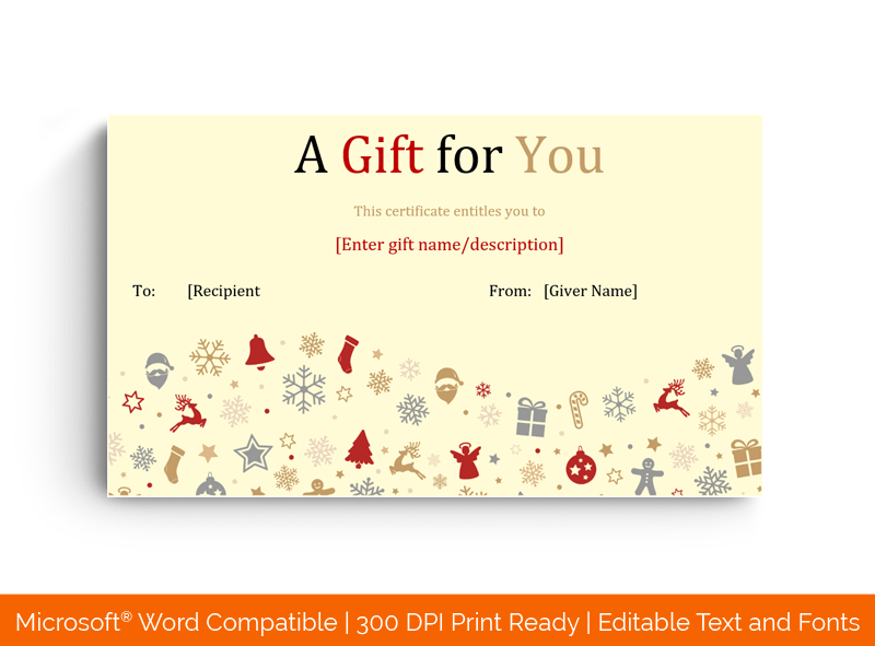 Candies and Gifts for Christmas Template 99