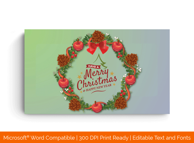 Christmas Bouquet and Happy New Year Certificate Template 32