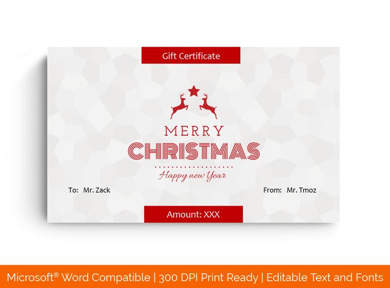 Christmas Certificate Template Star 18387
