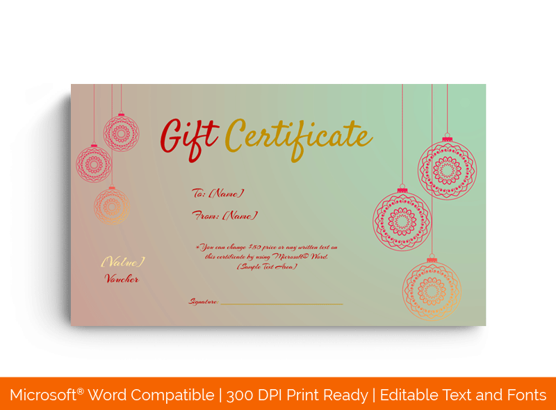 Christmas Eve Gift Certificate Template in Word 18569
